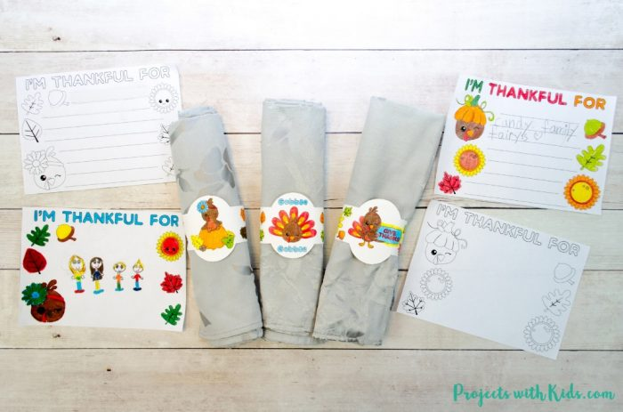Free Printables for Thanksgiving Kids Table