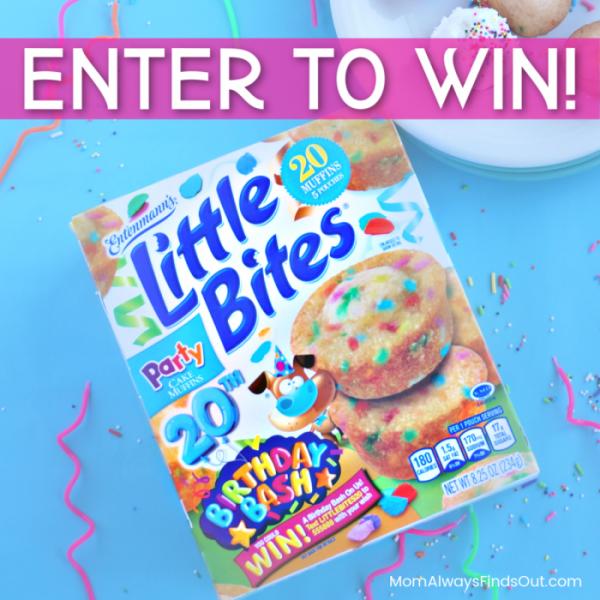 Entenmann's Little Bites Party Cake Muffins taste just like birthday cake! #LoveLittleBites #HBDLittleBites