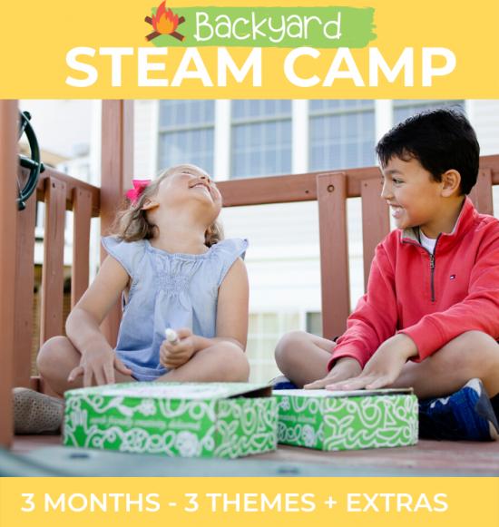 Backyard STEAM Camp activities for kids