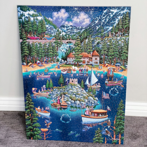 How To Mount a Finished Jigsaw Puzzle