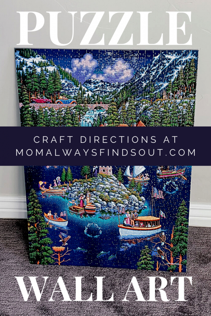 Jigsaw Puzzle DIY Wall Art Craft Directions at Mom Always Finds Out