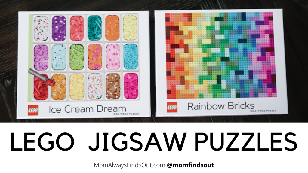 LEGO Puzzles are a fun challenge for LEGO fans! 1000 piece jigsaw puzzles featured at Mom Always Finds Out