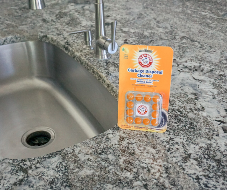 add Arm & Hammer Garbage Disposal Cleaner to your regular cleaning routine. Just one capsule eliminates odors and leaves behind a Fresh Citrus Scent.