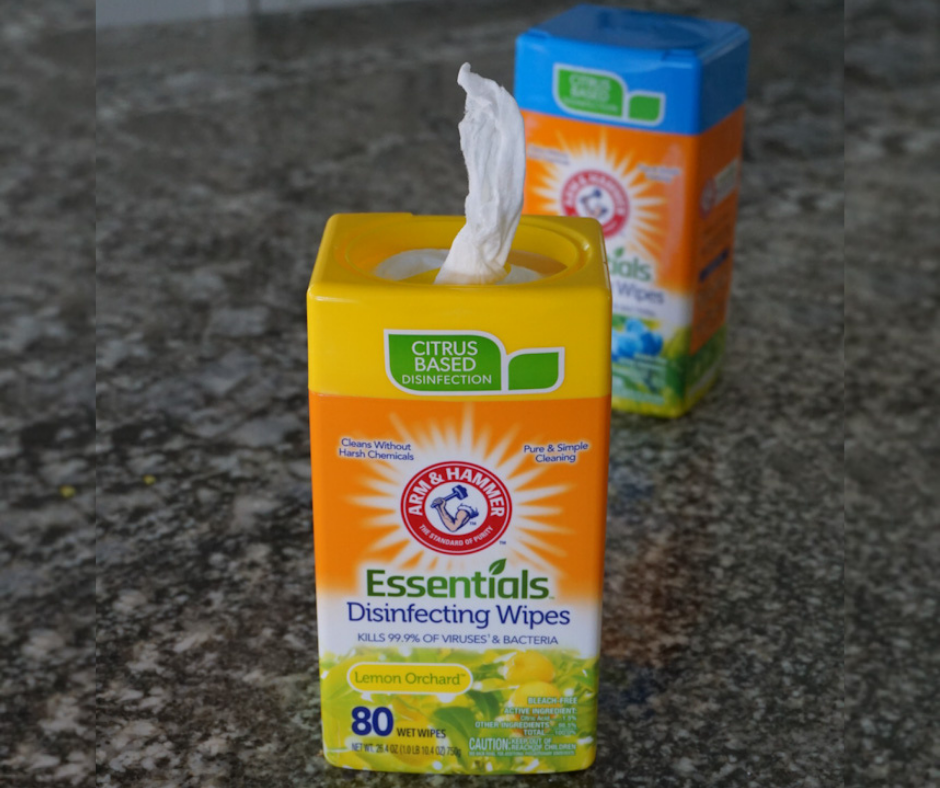 Arm & Hammer Citrus Based Disinfecting Wipes Kill 99% of Viruses and Bacteria