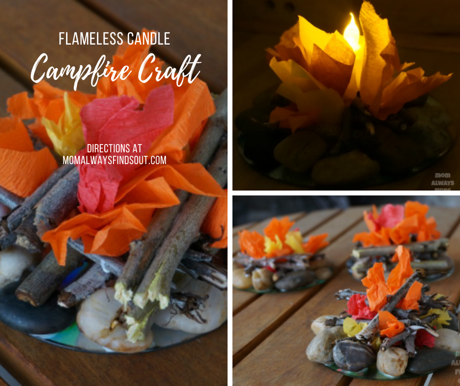 Campfire Craft - DIY Mini campfire craft for kids