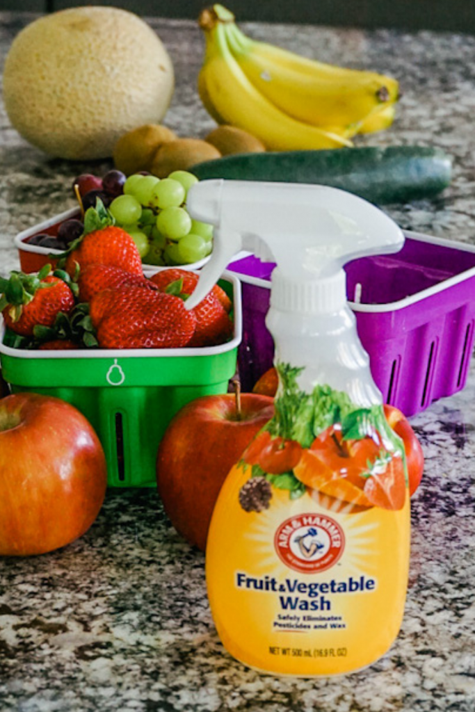 How to wash produce with Arm & Hammer Fruit & Vegetable Wash
