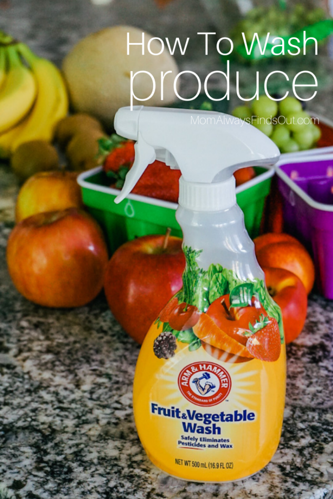 how to clean fruit - how to clean vegetables - Wash produce