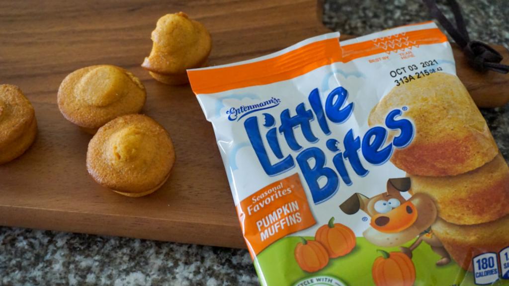Little Bites Pumpkin Muffins are a yummy snack idea for kids! #LoveLittleBites #LittleBitesPumpkin