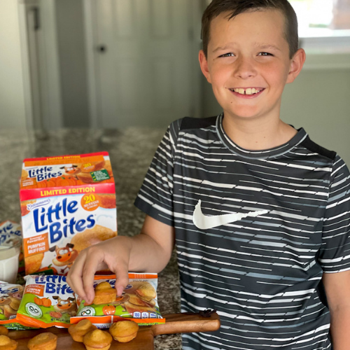 Little Bites Muffins are an easy after school snack idea for kids. #LoveLittleBites #LittleBitesPumpkin